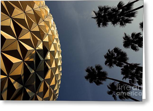 Epcot Center Greeting Cards - Epcot Centre Greeting Card by Colin Woods