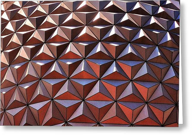 Geometric Shape Greeting Cards - Epcot in the Sun Greeting Card by Benjamin Yeager