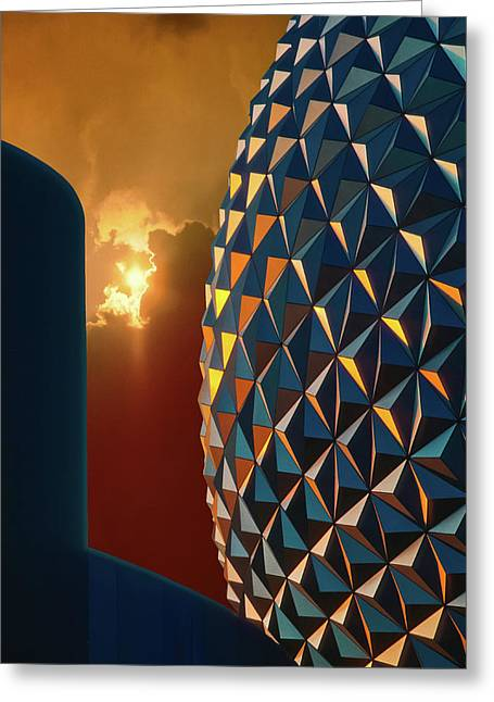 20th Greeting Cards - Epcot Greeting Card by Kellice Swaggerty