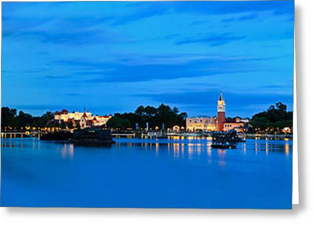 Epcot Greeting Cards - Epcot Lake Greeting Card by Tim Wilson