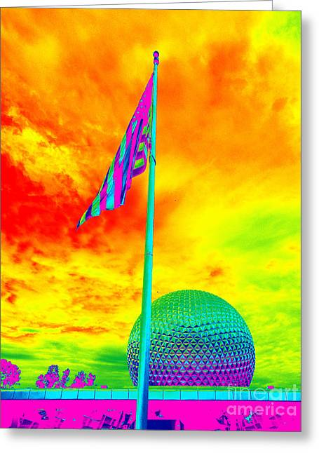 Disney Artist Greeting Cards - Epcot Trip Greeting Card by Anissia Hedrick