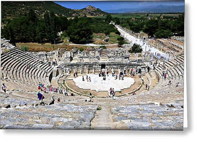 Theater Of Ephesus Greeting Card by Stephen Stookey