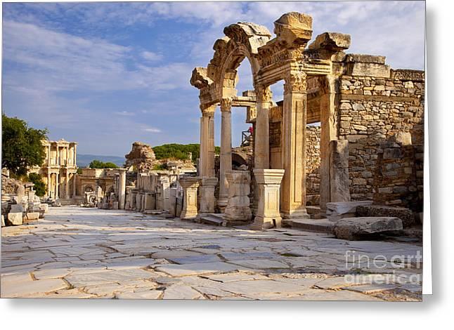 Ephesus Greeting Card by Brian Jannsen