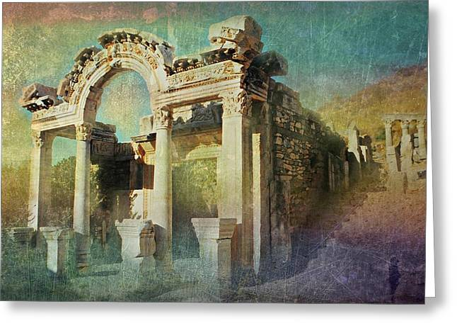 Greek Ruins Greeting Cards - Ephesus Turkey Greeting Card by Diana Angstadt