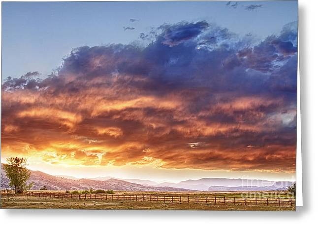 Commercial Space Greeting Cards - Epic Colorado Country Sunset Landscape Greeting Card by James BO  Insogna