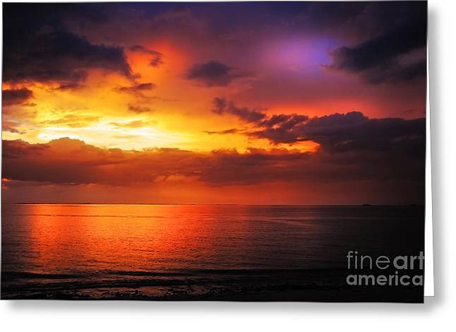 Colorful Cloud Formations Greeting Cards - Epic End of the Day at Equator Greeting Card by Jenny Rainbow