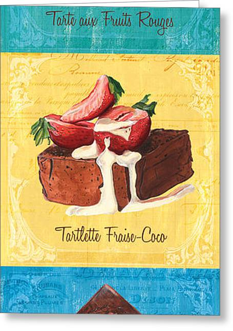 Pastries Greeting Cards - Epicerie Panel 1 Greeting Card by Debbie DeWitt