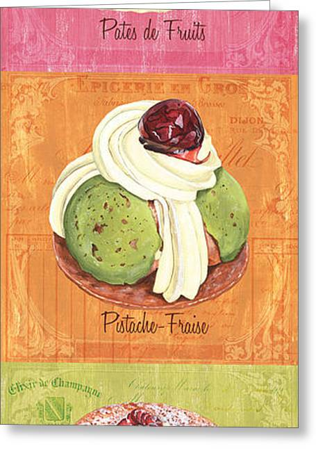 Melon Paintings Greeting Cards - Epicerie Panel 2 Greeting Card by Debbie DeWitt