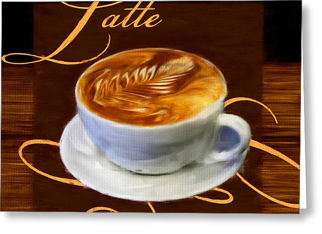 Caffe Latte Greeting Cards - Epicurean Delight Greeting Card by Lourry Legarde
