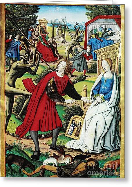 Moral Greeting Cards - Epidemic Deaths, 16th Century Greeting Card by Spl