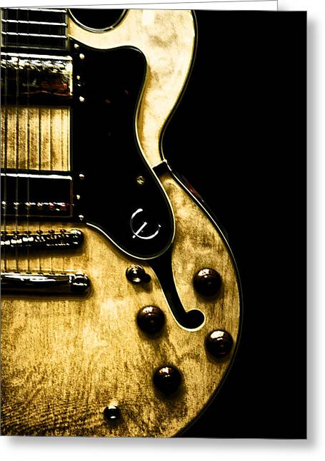 Epiphone Broadway Electric Guitar Greeting Card by Bill Cannon