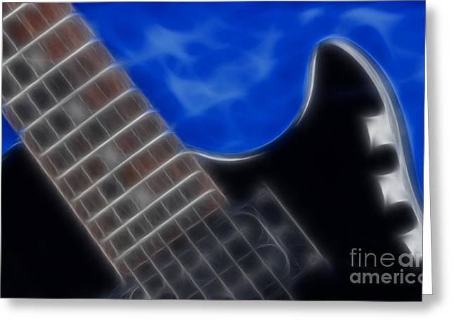 Gingrich Photography Digital Art Greeting Cards - Epiphone Special ll Les Paul-9705 Greeting Card by Gary Gingrich Galleries