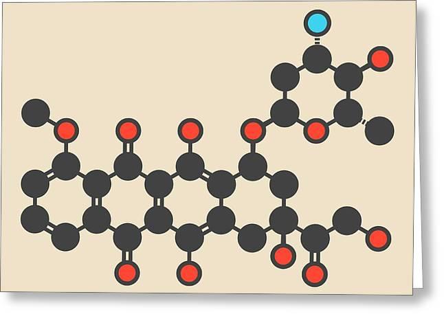 Epirubicin Cancer Drug Molecule Greeting Card by Molekuul