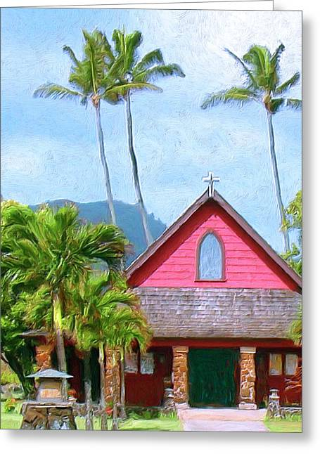 Lahaina Greeting Cards - Episcopal Church in Kapaa Greeting Card by Dominic Piperata