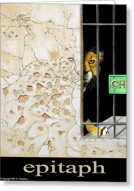 Rare Mixed Media Greeting Cards - Epitaph Greeting Card by J L Meadows