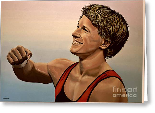 Epke Zonderland The Flying Dutchman Greeting Card by Paul Meijering