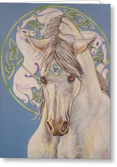 Beth Clark-mcdonal Greeting Cards - Epona The Great Mare Greeting Card by Beth Clark-McDonal