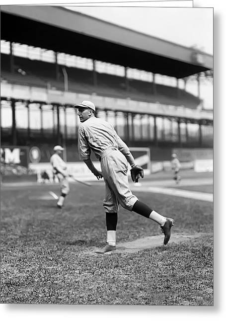 Cincinnati Reds Greeting Cards - Eppa Rixey Greeting Card by Retro Images Archive