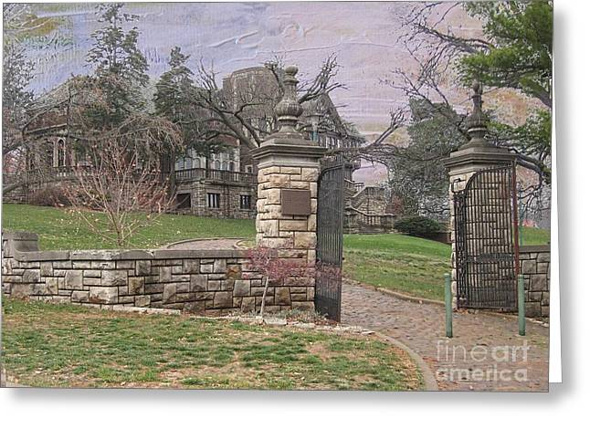 Liane Wright Greeting Cards - Epperson House House On The Hill Greeting Card by Liane Wright
