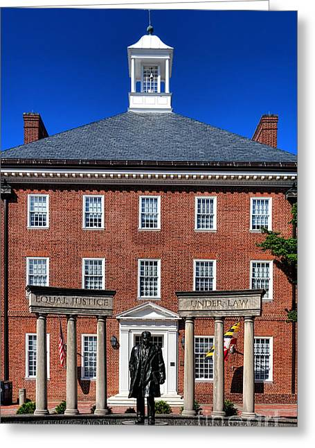 Annapolis Maryland Greeting Cards - Equal Justice Under Law Greeting Card by Olivier Le Queinec