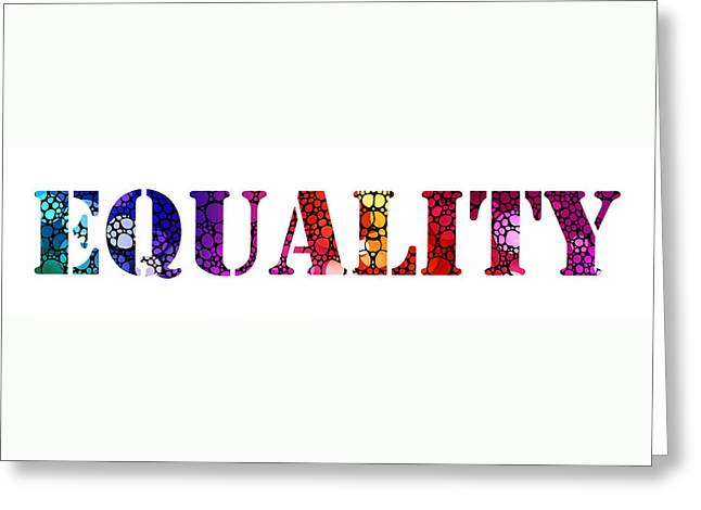 Bisexual Greeting Cards - Equality For All 3 - Stone Rockd Art By Sharon Cummings Greeting Card by Sharon Cummings