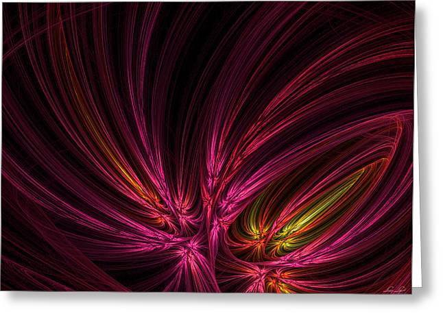 Purple Abstract Greeting Cards - Equalized Greeting Card by Lourry Legarde