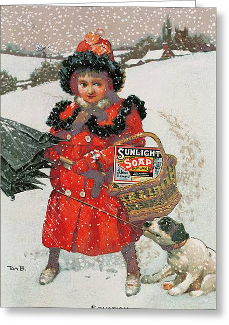 Vintage Advertisement For Soap Greeting Card by English School