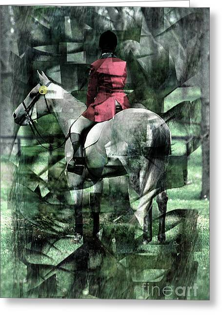 Kentucky Horse Park Digital Art Greeting Cards - Equestrian Prism Greeting Card by J M Lister