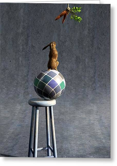 3d Greeting Cards - Equilibrium II Greeting Card by Cynthia Decker