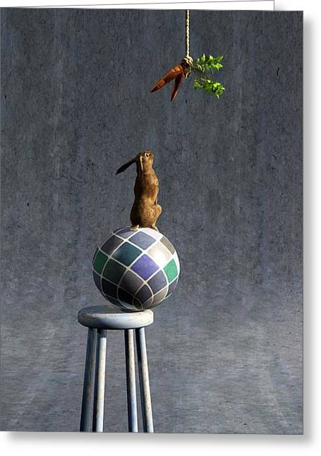 Whimsical. Digital Greeting Cards - Equilibrium II Greeting Card by Cynthia Decker