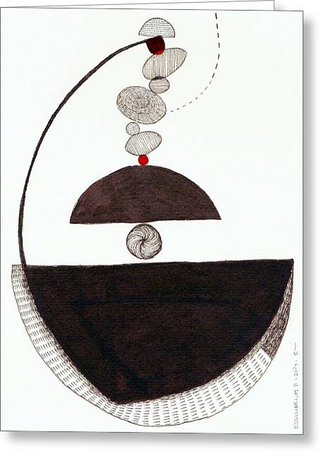 Equilibrium II Greeting Card by Orsi Cowell-Lehoczky