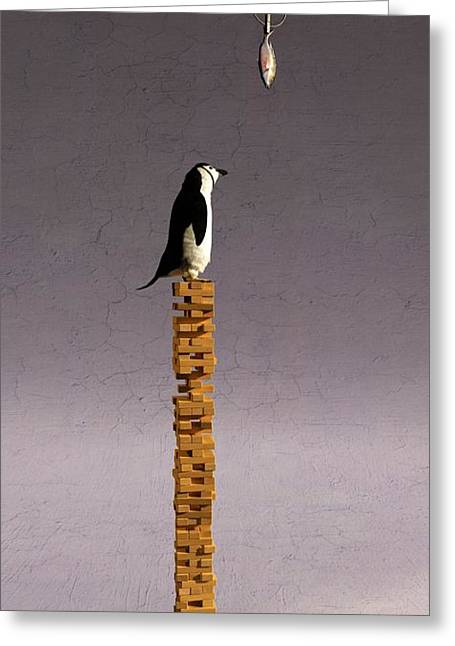 Wood Blocks Greeting Cards - Equilibrium V Greeting Card by Cynthia Decker