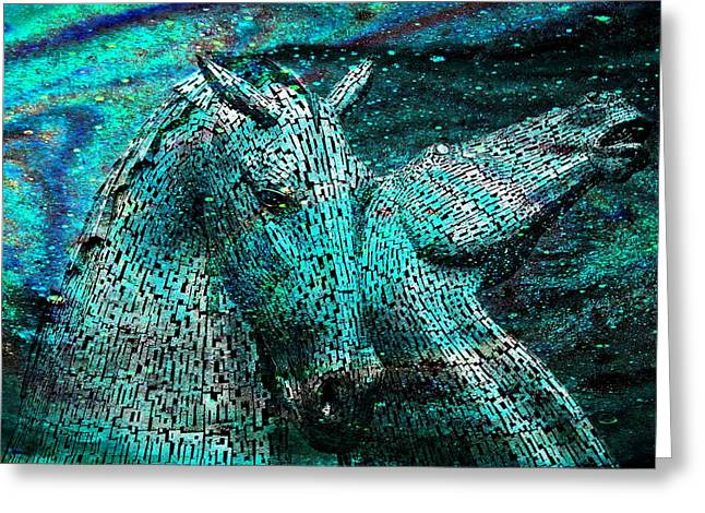 Equine Cosmos Greeting Card by Mike Marsden