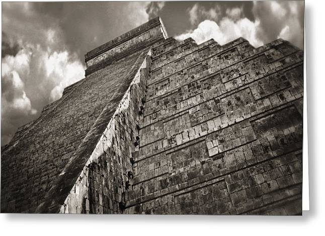 Pyramids Greeting Cards - Equinox at Chichen Itza Greeting Card by Cesar Palomino