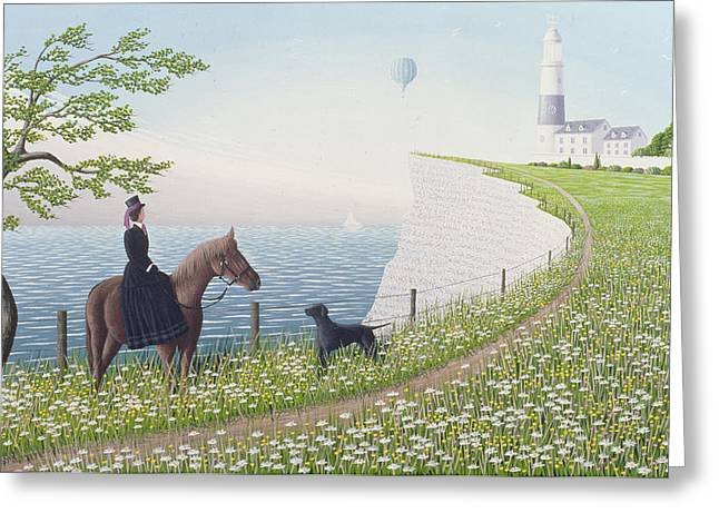 Side Saddle Greeting Cards - Equinoxe, 1996 Greeting Card by Peter Szumowski