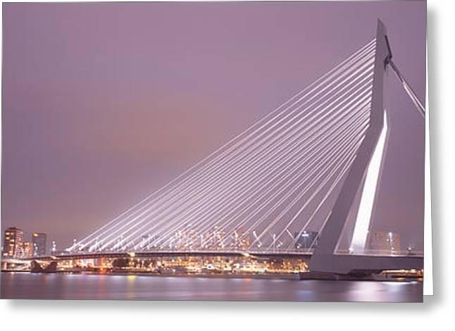 Erasmus Bridge, Rotterdam, Holland Greeting Card by Panoramic Images