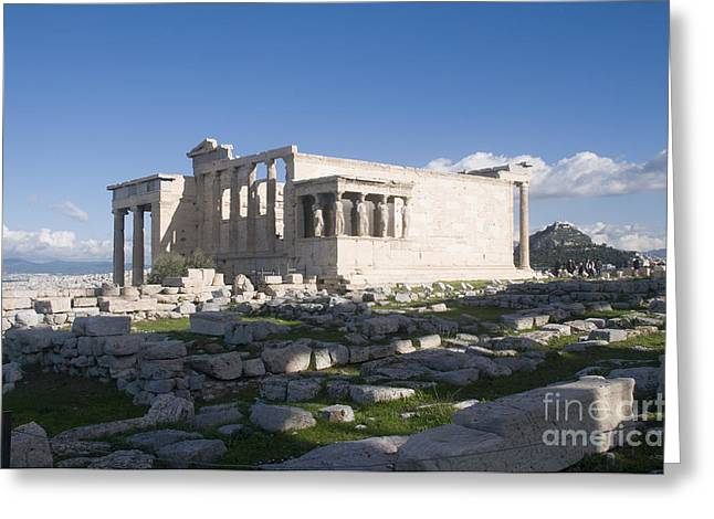 Archaeology Archeological Greeting Cards - Erechtheion Acropolis Athens Greeting Card by Ilan Rosen