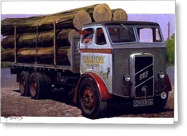 1930s Paintings Greeting Cards - ERF CT 561 six-wheeler. Greeting Card by Mike  Jeffries