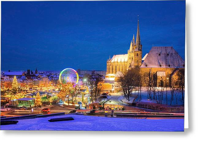 Ma Pyrography Greeting Cards - Erfurt X-mas Greeting Card by Steffen Gierok