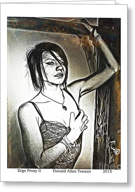 Goth Girl Digital Art Greeting Cards - Ergo Proxy II Greeting Card by Donald Yenson