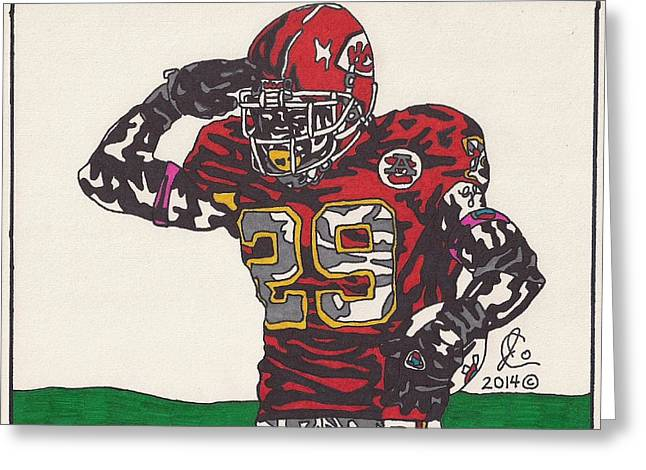Pro Football Drawings Greeting Cards - Eric Berry Greeting Card by Jeremiah Colley