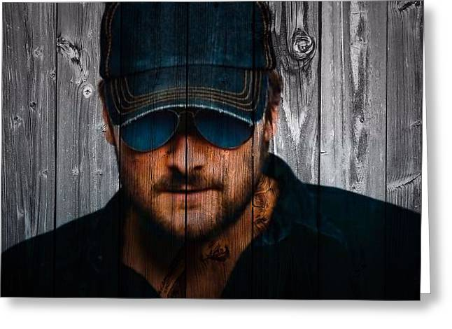 Award Mixed Media Greeting Cards - Eric Church Greeting Card by Dan Sproul