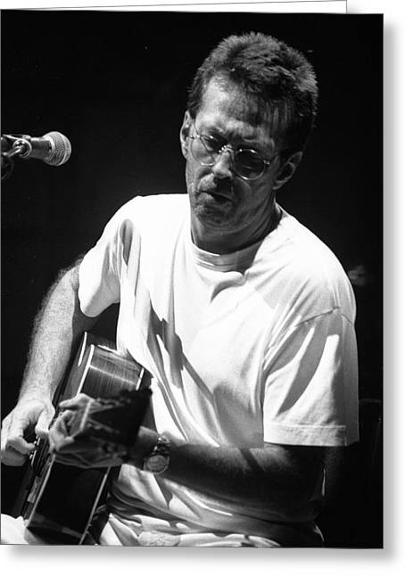 Live Performance Greeting Cards - Eric Clapton 003 Greeting Card by Timothy Bischoff