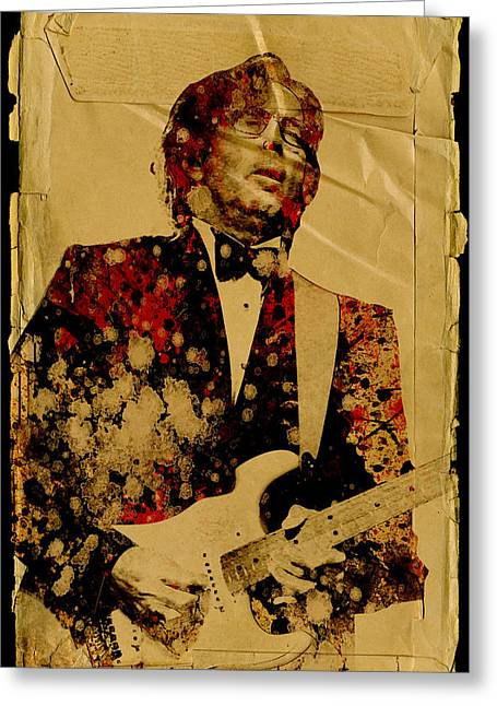 Eric Clapton Portrait Greeting Cards - Eric Clapton 2 Greeting Card by MB Art factory