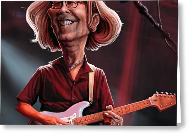 Eric Clapton Greeting Cards - Eric Clapton Greeting Card by Andre Koekemoer