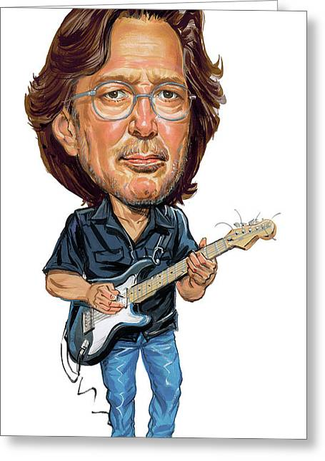 Great Paintings Greeting Cards - Eric Clapton Greeting Card by Art