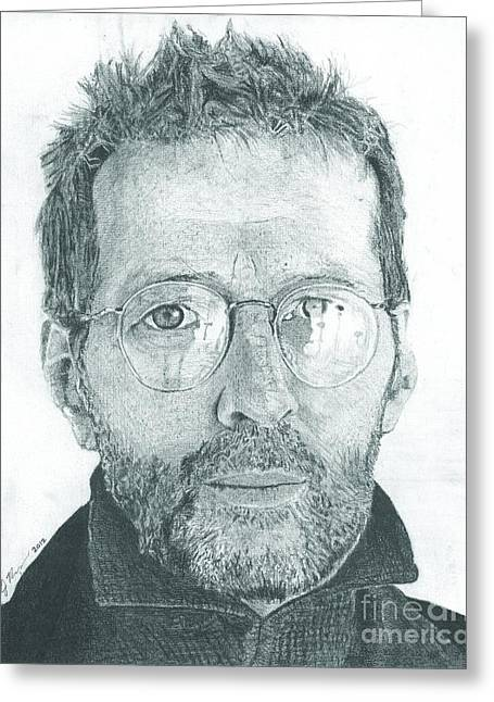 Slowhand Greeting Cards - Eric Clapton Greeting Card by Jeff Ridlen