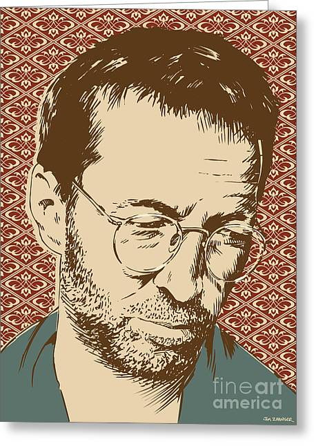 Tears Greeting Cards - Eric Clapton Greeting Card by Jim Zahniser