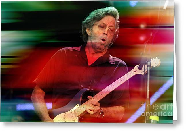Slowhand Greeting Cards - Eric Clapton Greeting Card by Marvin Blaine