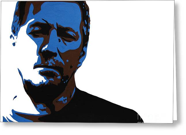 Slowhand Greeting Cards - Eric Clapton Greeting Card by Nancy Mergybrower